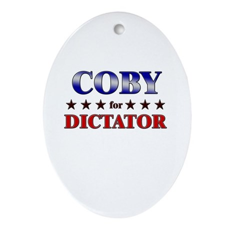 COBY for dictator Oval Ornament