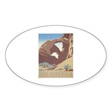 See America - Arches N.P. Oval Decal