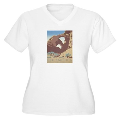 See America - Arches N.P. Women's Plus Size V-Neck