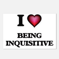 I Love Being Inquisitive Postcards (Package of 8)