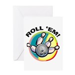 Roll 'Em Bowling Greeting Card