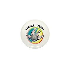 Roll 'Em Bowling Mini Button (10 pack)