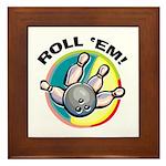 Roll 'Em Bowling Framed Tile