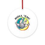 Roll 'Em Bowling Ornament (Round)