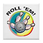 Roll 'Em Bowling Tile Coaster