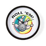 Roll 'Em Bowling Wall Clock