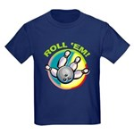 Roll 'Em Bowling Kids Dark T-Shirt