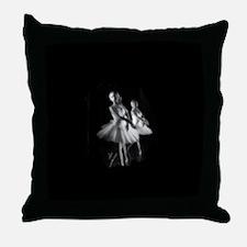 Little Ballerinas B&W Throw Pillow