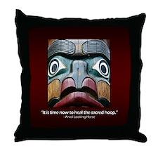 Sacred Hoop Throw Pillow