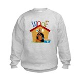 Woof dog in doghouse Crew Neck