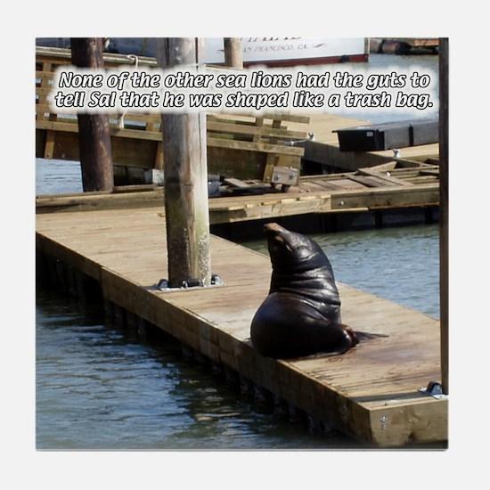 Sal the Sea Lion Tile Coaster