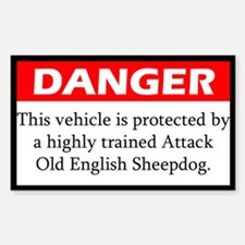 Attack Old English Sheepdog Decal