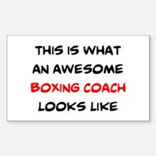 awesome boxing coach Sticker (Rectangle)