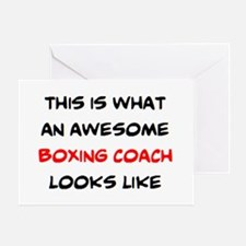 awesome boxing coach Greeting Card