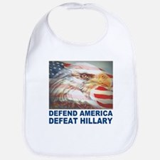 Defend America Defeat Hillary Bib