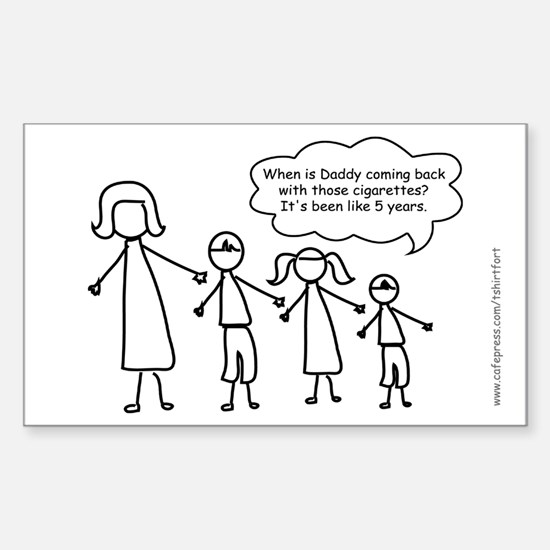 Funny Stick Figure family Decal