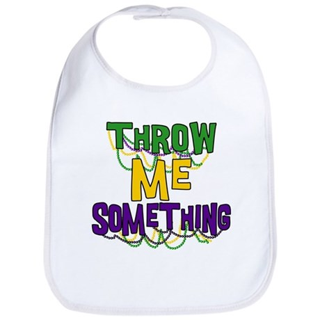 Mardi Gras Throw Me Something Bib