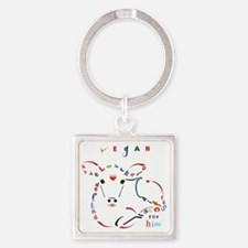 Funny Farm animal rights Square Keychain