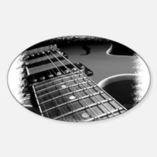 Electric Guitar 1 Oval Decal