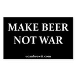 MAKE BEER NOT WAR - Rectangle Sticker