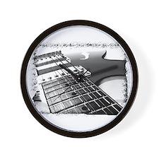 Electric Guitar 1 Negative Wall Clock