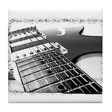 Electric Guitar 1 Negative Tile Coaster