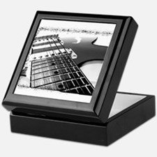 Electric Guitar 1 Negative Keepsake Box