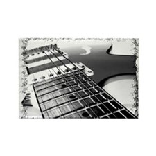 Electric Guitar 1 Negative Rectangle Magnet