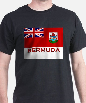Bermuda Flag Merchandise Ash Grey T-Shirt