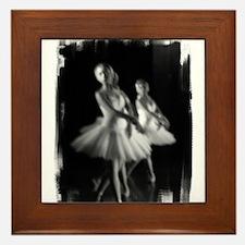 Little Ballerinas B&W Framed Tile