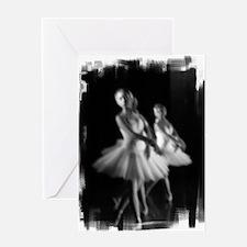 Little Ballerinas B&W Greeting Card