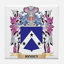 Robey Coat of Arms - Family Crest Tile Coaster