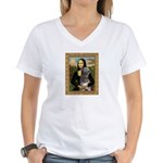Mona / Irish Wolf Women's V-Neck T-Shirt