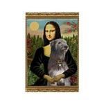 Mona / Irish Wolf Rectangle Magnet