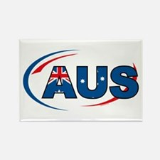 Country Code Australia Rectangle Magnet