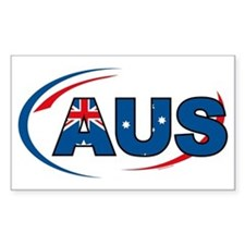 Country Code Australia Rectangle Decal