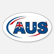 Country Code Australia Oval Decal