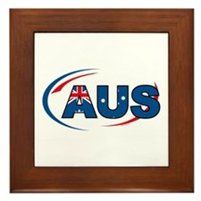 Country Code Australia Framed Tile
