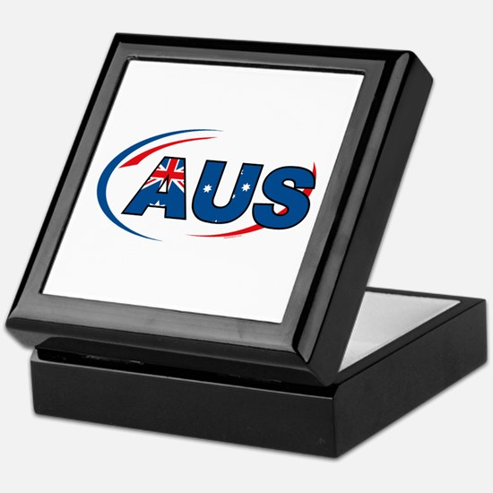 Country Code Australia Keepsake Box