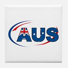 Country Code Australia Tile Coaster