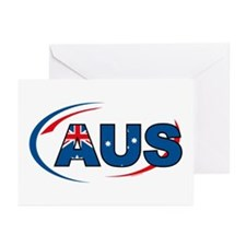 Country Code Australia Greeting Cards (Pk of 10)