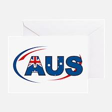 Country Code Australia Greeting Card