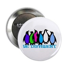 Be Different Penguins Button
