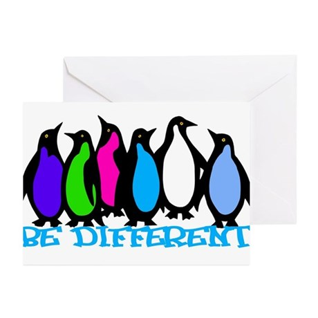 Be Different Penguins Greeting Cards (Pk of 10