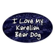 Funky Love Karelian Bear Dog Oval Decal