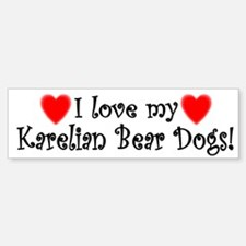 I Love My Karelian Bear Dogs Bumper Bumper Bumper Sticker