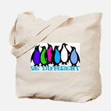 Be Different Penguins Tote Bag