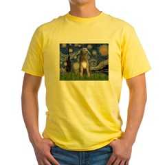 Starry/Irish Wolfhound Yellow T-Shirt