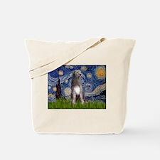 Starry/Irish Wolfhound Tote Bag