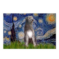 Starry/Irish Wolfhound Postcards (Package of 8)